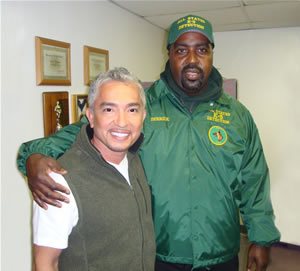 Derick with Cesar Millan
